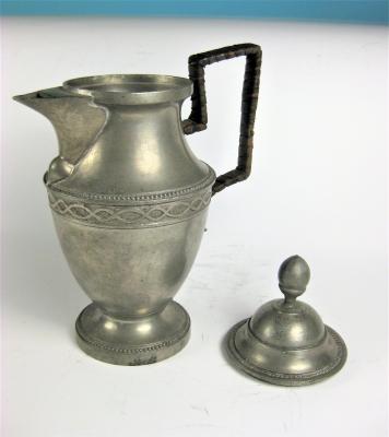 Antiker Zinnkrug, Kanne, Aus Sammlung von 1853,  (AN 64)