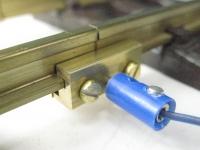 60/150 - 10 x Schienenverbinder aus Messing, 2-teilig