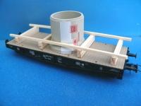 DUHA 11238 - Betonrohr auf Holzträger (Spur H0)