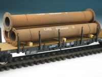 DUHA 11406 A - 3 gealterte Rohre mit Flansch
