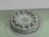Ladegut 11351 - 2 Kessel grün auf Holzladegestell, M 1:22,5, Paßgenau für LGB Wagen