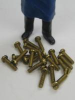 Schraube DIN 84 - Schlitz Messing blank - M 2,5 x 10 (20 Stück)