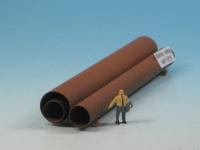 DUHA 11216 - 3 rostige Rohre (Spur H0)