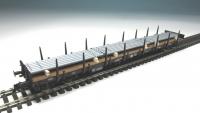 DUHA 11424 C - 3 x Eisenstangen auf Holzträgern (Spur H0)