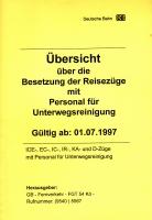 DB Übersicht über die Besetzung der Reisezüge mit Personal für U