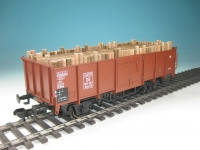 DUHA 15130 - Grubenholz, Holzbeladung für offenen Güterwagen Omm 55