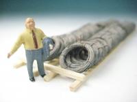 DUHA 11594 - Drahtrollen neu im Holzgestell