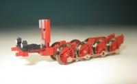 Lokfahrgestell mit Rädern und Lampen für BR 56