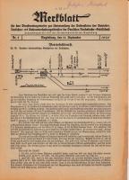 Merkblatt für das Dienstvortragswesen zur Unterweisung der Bediensteten, Magdeburg, 15. September 1929