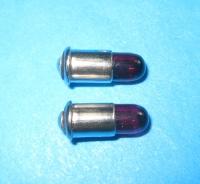 2 x Märklin Steckglühlampe rot, 19 V