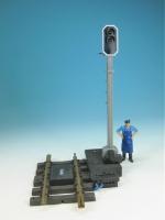 LGB RhB-Lichtsignal 5095 gebraucht, aus Vorführanlage, Antrieb NEU mit Gleis 1015 U