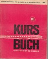 Kursbuch der Deutschen Reichsbahn, Sommer 1966, inkl. Übersichtskarte