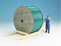 DUHA 16263 A - Siemens Kabeltrommel aus gealtertem Holz mit grünem Kabel (Spur G)