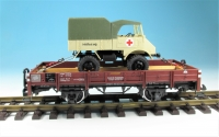 11385 - Ladegut Unimog Rotes Kreuz im Maßstab 1:22,5, Paßgenau für LGB Wagen