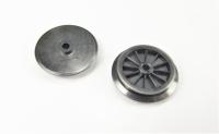 Fleischmann Ersatzteil - 2 Räder mit Nut für Dampflok, Ø 17,5 mm, schwarz, isoliert (35 a)