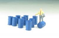 DUHA 11578 C - 10 blaue Fässer, lose (Spur H0)
