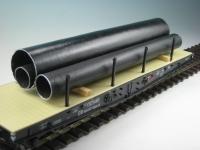 DUHA 18215 - 3 schwarze Rohre auf Holzträgern