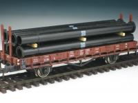 DUHA 11325 - Schwarze Rohre mit Flansch (Spur H0)
