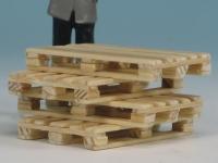 41203 - Europaletten (4 Stück) - Handarbeit aus Echtholz im Maßstab 1:32, Spur I