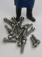 Schraube DIN 912 - Innensechskant M 2,5 x 10 - A2 (20 Stück)