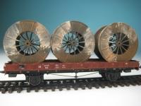 DUHA 11367 - 3 gealterte Metallkabeltrommeln
