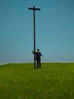 DUHA 28136 - Telefonmast / Telegrafenmast ca. 150 mm hoch