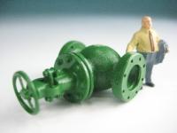 DUHA 11233 G - Grünes Ventil mit Schieber (Spur H0)