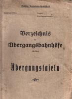 Deutsche Reichsbahngesellschaft - Übergangstafeln 1930 (AN 35)