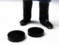 LGB Ersatzteil - 3070/50, 2 schwarze Kunststoff -  Beilagscheiben Ø 9 mm
