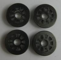 Fleischmann Ersatzteil - 4 Räder für Dampflok Ø 10,8 mm (63)
