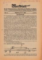 Merkblatt für das Dienstvortragswesen zur Unterweisung der Bediensteten, Magdeburg, 15. April 1930