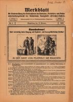 Merkblatt für die Unterweisung der Bediensteten, Magdeburg, 15. Feburar 1927