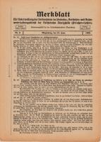 Merkblatt für Unterweisung der Bediensteten, Magdeburg, 15. Juni 1926