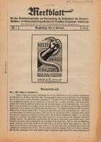 Merkblatt für das Dienstvortragswesen zur Unterweisung der Bediensteten, Magdeburg, 15. Februar 1929