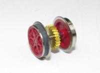 Fleischmann N - Radsatz für E-Lok mit Haftreifen