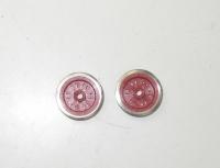 Fleischmann N - 2 Räder für E-Lok, Ø 11,7 mm, rot, isoliert