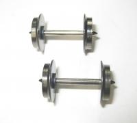 Fleischmann H0 - 2 x Tauschradsatz Gleichstrom, einseitig isoliert, für Fleischmann-Wagen