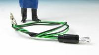 Steckglühlampe klar, 5 Volt mit Fassung, Schutzhülle und grünem Kabel  (ca. 33 cm lang)